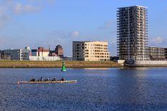 Blick vom  Weseruferpark