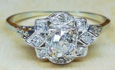 Vintage Antique .65ct Old European Cut Diamond by DiamondAddiction, $875.00