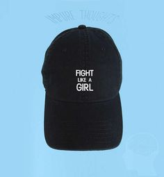 FIGHT like a GIRL Dad Hat Embroidered Baseball Cap Low Profile Cute Hats c2c4887fa4c