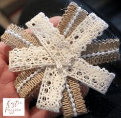 Learn how to Make the Easiest No-Sew Fabric Flowers. Easy Fabric Flowers, Fabric Flower Tutorial, Cloth Flowers, Paper Flowers, Shabby Chic Flowers, Shabby Chic Fabric, Mesh Wreath Tutorial, Operation Christmas Child, Burlap Fabric