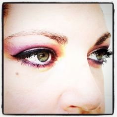 I would for the girls make-up to be like this ....but the coral eye shadow. That would be GREAT!
