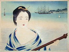 Kobayakawa Kiyoshi (1896-1948): The Mistress Okichi (of Townsend Harris), woodblock print, ca. 1932.