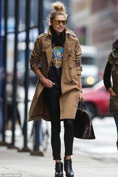 Jessica Hart #streetchic #style #fashion
