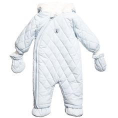 ABSORBA Pale Blue Padded Baby Snowsuit