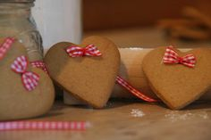 Gingerbread Heart favours