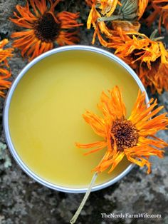 Calendula Salve Recipe; I used oil infused with calendula, st. john's wort and comfrey root.  3.5 ounces of oil and .5 ounce of beeswax.  Great to have on hand!!