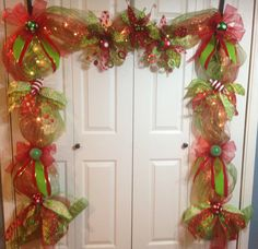 Lighted christmas Garland/Mantle piece by WreathsbyLaura on Etsy
