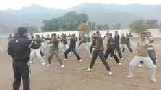 Pak Rangers doing Taekwondo Training.. With Imran Khan