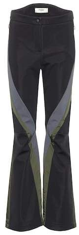 Fendi's take on sportswear is ultimately chic, as the Sax ski trousers show. The high-rise design comes in a flared silhouette with the diagonal stripes adding a dynamic feel. Wear yours with chunky sweaters. Athletic Pants, Fendi, Skiing, Sportswear, Trousers, Chic, Fashion, Ski, Trouser Pants