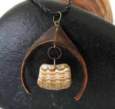 Natural Driftwood & Shell Pendant - Driftwood Necklace - Jewelry - Mother's Day OOAK - DreamWeaver Creations