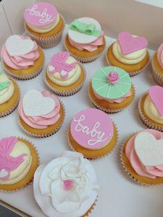 Baby shower cupcakes www.breezyscakes.com.au