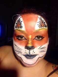 Fox face paint (very quick)
