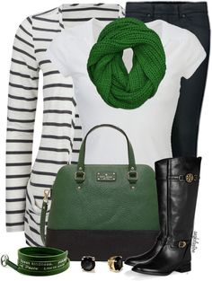 Liking the green scarf!