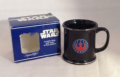 Star Wars Rawcliffe Black Pewter Ceramic Mug-Rebel Alliance 1996