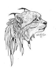 татуировка рысь эскиз - Поиск в Google