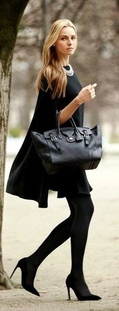 Ralph Lauren designed black fall fashion... click on pic to see more