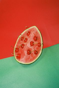 melon and cherry Fruit Photography, Still Life Photography, Creative Photography, Summer Fruit, Coops, Food Design, Graphic, Art Direction, Food Art