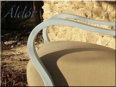 Art deco fotel shabby chic stílusban felújított