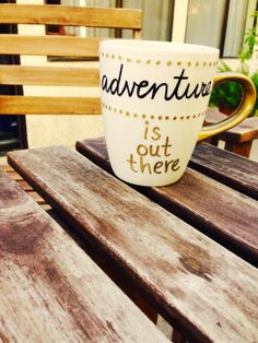 """Up-inspired """"Adventure is out there""""- Hand Drawn Mugs for the Adventurers, the Dreamers, the Spontaneous (Personalized) $15.99"""