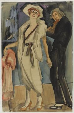 By Kees van Dongen, ca 1892-1968,  Vrouw met violist (Woman with violinist). ~Repinned Via Ristretto