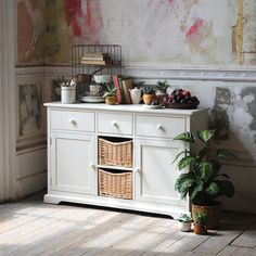 Farmhouse Painted Large Sideboard from The Cotswold Company. Free Delivery & Free Returns. Boasting heaps of contemporary country charm, this beautiful and practical sideboard will bring plentiful storage and fresh appeal to your kitchen or dining room.