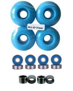 52mm Wheels w/ Bearings & Spacers Skateboard Wheels, Cool Skateboards, Aggressive Skates