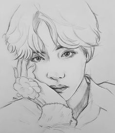 arts Taetae🐯💙💙Prince of blue hair. Sometimes I go crazy to draw one of the guys constantly, but Tae is an anime😭💙… - Site Kpop Drawings, Pencil Art Drawings, Cool Art Drawings, Art Drawings Sketches, Taehyung Fanart, Guy Drawing, Drawing Hair, Drawing Ideas, Anime Sketch