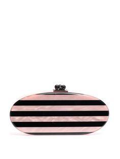 Edie Parker Edie stripe oval clutch