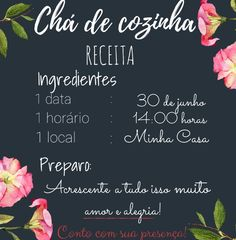 Convite cha de cozinha Wedding List, Dream Wedding, Bride Shower, Ideas Para Fiestas, Woodworking Jigs, Marry Me, Party Gifts, Open House, House Warming