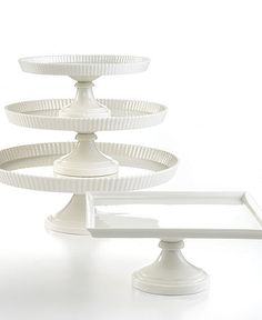 Martha Stewart cake stand.... Love love love the square one!!!