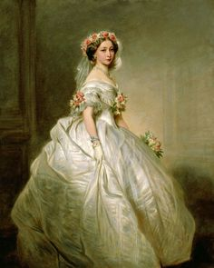 Franz Xaver Winterhalter, Princess Alice Maud Mary as a bridesmaid, wife of Grand Duke Louis IV of Hesse. She was the child of Queen Victoria & Prince Albert of Saxe-Coburg-Gotha Franz Xaver Winterhalter, Queen Victoria Children, Queen Victoria Prince Albert, Victoria And Albert, Princess Victoria, Reine Victoria, Royal Collection Trust, Royal Weddings, Woman Painting
