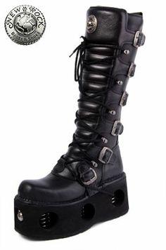 e698d48a6904b New Rock M.272-S2 Space Platform High Boots (Black) | corp goth ...