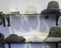 On the shelves... hats, knits - bring on the chilly weather!