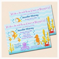 Sea Critters Under the Sea Baby Shower OR by MaryandPeanut on Etsy, $15.00