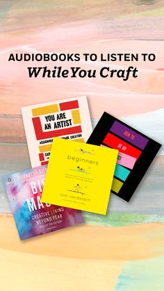 Get inspiration from these audiobooks that are the perfect crafting companions. Get expert advice and projects to spark your creativity from The Artist's Way by Julia Cameron; Big Magic by Elizabeth Gilbert; Beginners by Tom Vanderbilt; How To Be an Artist by Jerry Salz; You Are an Artist by Sarah Urist Green; and more. Penelope Lively, Julia Cameron, The Artist's Way, Level Of Awareness, Elizabeth Gilbert, Penguin Random House, Books To Buy, Finding Joy, Design Thinking