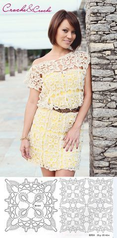 Luty Artes Crochet: Vestidos e Débardeurs Au Crochet, Moda Crochet, Hippie Crochet, Crochet Blouse, Irish Crochet, Crochet Gratis, Crochet Tops, Dress With Cardigan, Blouse And Skirt