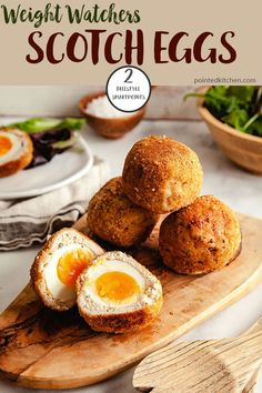 Scotch Eggs made with ground turkey are delicious! They are oven baked making them a perfect Weight Watchers lunch recipe. At just 2 Smart Points per Scotch Egg they also make the perfect low point Weight Watchers snack. Weight Watchers Pasta, Weight Watchers Lunches, Ww Recipes, Brunch Recipes, Skinny Recipes, Healthy Recipes, Healthy Food, Tailgating Recipes, Barbecue Recipes