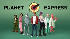 Planet Express Team by ~SebDus on deviantART