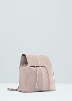 Lederrucksack mit klappe | MANGO