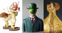 Versões 3D das obras de Klimt, Magritte, Dali, Bosch e outros | IdeaFixa