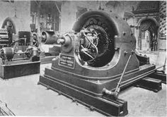 Tesla two-phase motor in the Westinghouse Electric & Manufacturing Company exhibit at the Columbian Exposition, 1893.