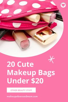 As much as we all love a stylish and fun tote to store our makeup while we're on the go, the truth is, makeup bags get dirty quickly. They also run the risk of getting misplaced, so most of us don't fancy spending a fortune on one! To help you out, here are twenty fantastic and cute makeup bags that will cost you less that $20. And they obviously make GREAT gifts too. Grab a bag and add a lipgloss, mascara or gift card and you will make someone's day. #makeup #fashion #womensfashion #bags Mini Makeup Bag, Cute Makeup Bags, Makeup Must Haves, Beauty Must Haves, Beauty Tips, Beauty Hacks, Expensive Handbags, Makeup Tutorial For Beginners, Cosmetic Pouch