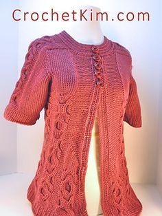 c82e54c393 Ravelry  Hugs and Kisses Jacket pattern by Kim Guzman Tunisian Crochet  Patterns