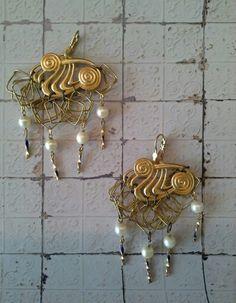#mazzinidonnalugo #earrings #chains #pearls #uniquehandmade #doloresesimonettabijoux