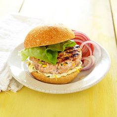 Salmon Burgers with Lemon-Basil Mayo - GoodHousekeeping.com