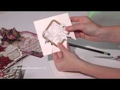Christmas Card Making: Quick Dimension and Sparkling Backgrounds by Heartfelt Creations - YouTube