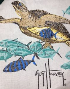 Throw pillows - Pin it! :) Follow us :)) zPatioFurniture.com is your Patio Furniture Gallery ;) CLICK IMAGE TWICE for Pricing and Info :) SEE A LARGER SELECTION of  outdoor throw pillows at  http://zpatiofurniture.com/category/patio-furniture-categories/outdoor-throw-pillows/ - home, patio  pillows, homedecor - Guy Harvey Turtle Isle Print 24″ Fringed Indoor / Outdoor Throw Pillow « zPatioFurniture.com