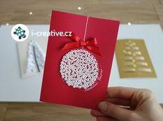Návod na vánoční přání s baňkou