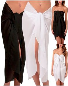 Sexy Long Pareo Cover-Up Sheer Light Transparent Perfect Wrap Around Beach Halter Dress Accessory « Dress Adds Everyday
