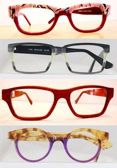 Fun, funky, colourful eyeglass frames